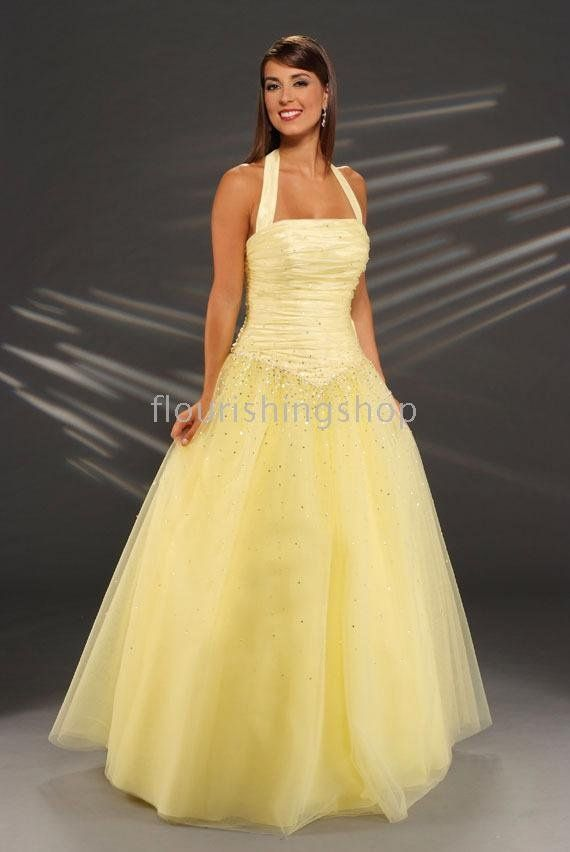 Pretty pale yellow dress. Nice alternative to white and ivory ...