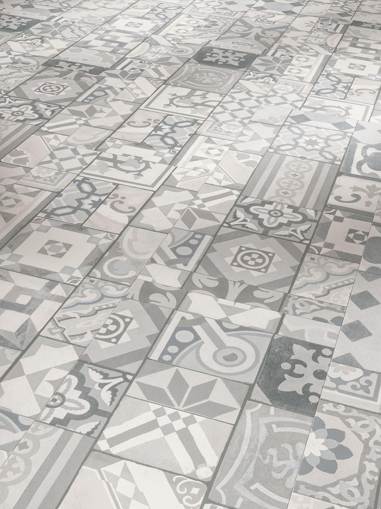 Vinylboden Parador Trendtime 5 50 Ornamentic Grey Mineralstruktur Gefast Vinylboden Vinyl Laminat Vinylboden Fliesenoptik