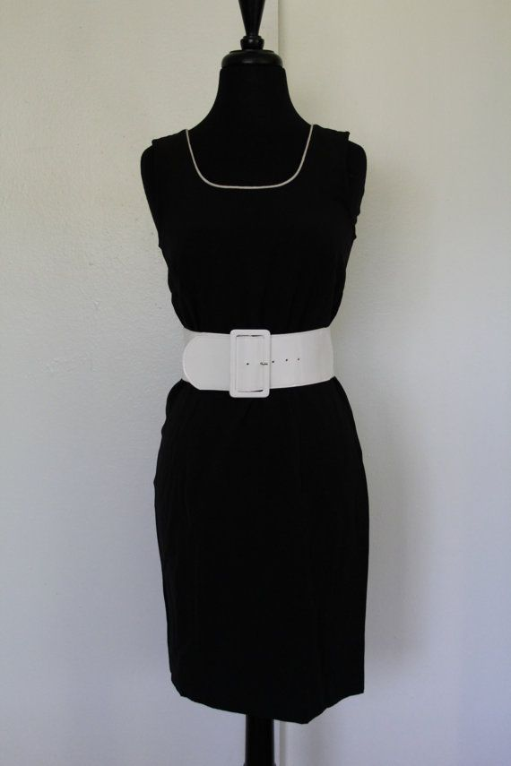272a84c42c97 Without the white belt of course Simple Little Black Dress Recycled by xARK  on Etsy