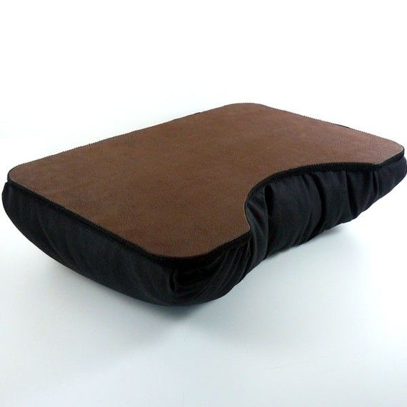 Grandes marrón imitación cuero portátil escritorio por LapDeskLady
