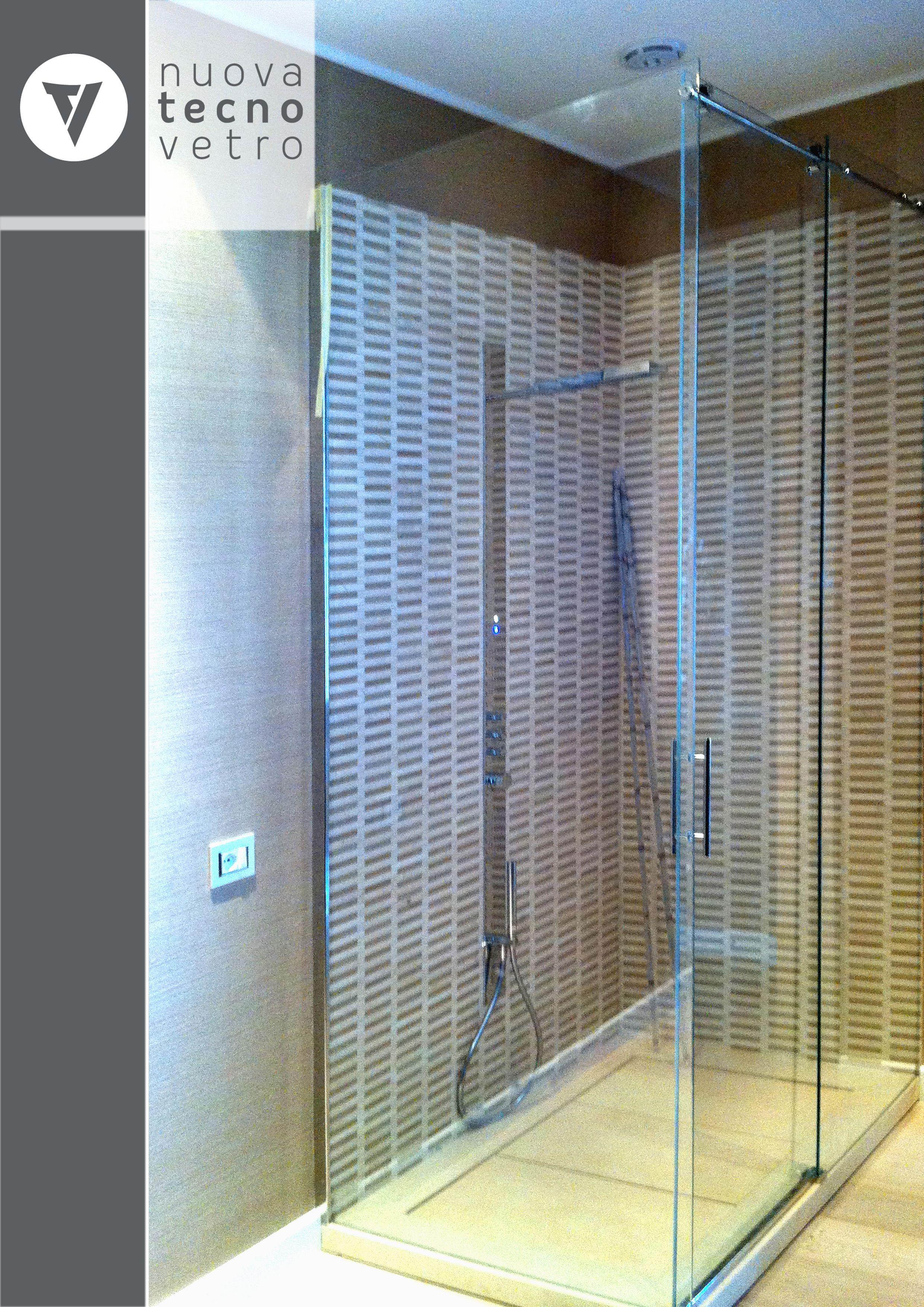Box doccia rettangolare scorrevole Quad 70 x 90 cm, H 190