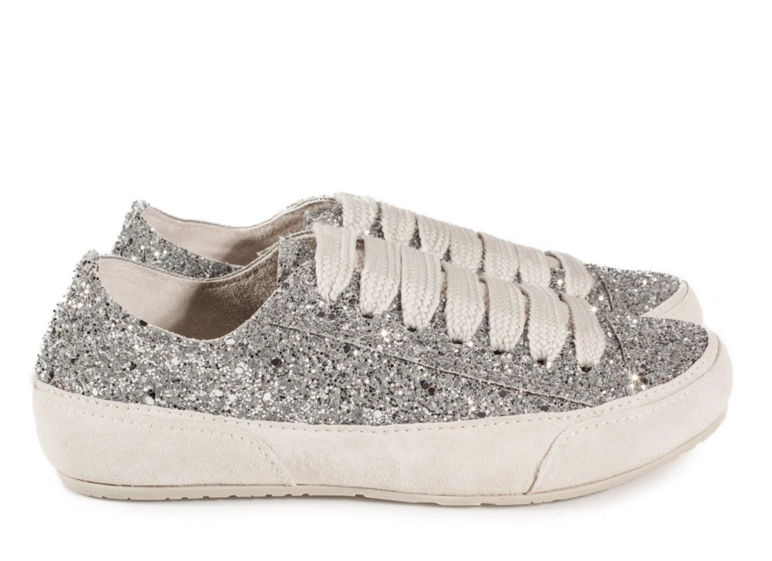 Parson, 'phat' lace glitter sneaker in silver glitter I Pedro Garcia shoes I Fall Winter 2015 2016 I Made in Spain