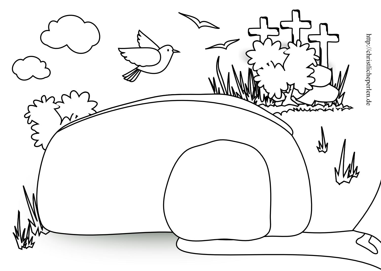 ausmalbild ostern jesus  Ausmalbilder zu Ostern  Christliche