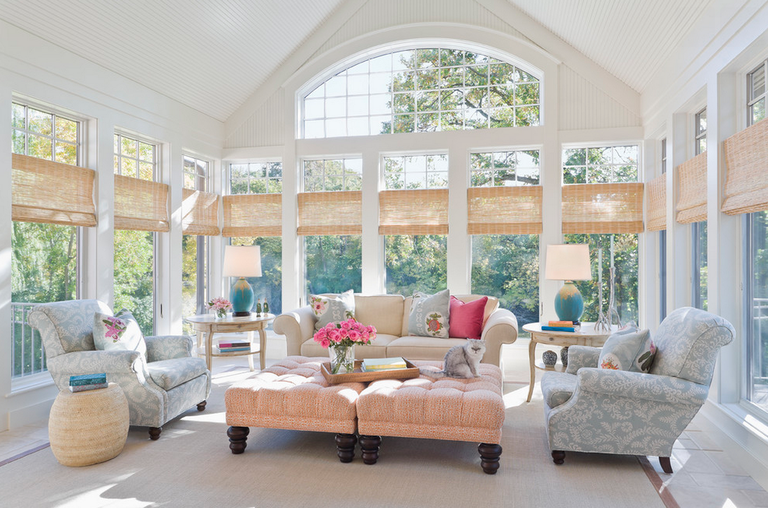 Window ideas for a sunroom   sided window and raised ceiling  new house design  pinterest