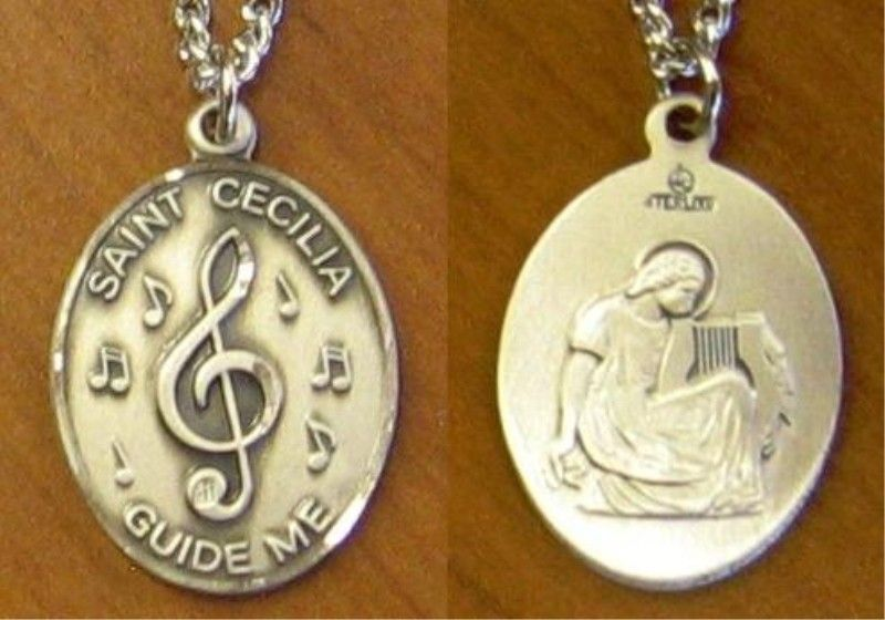 St cecilia medal st cecilia musical note jc 5051mft sterling explore st cecelia santa cecilia and more mozeypictures Choice Image