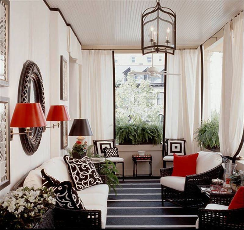 black white red patio sun florida room outside outdoor home sweet