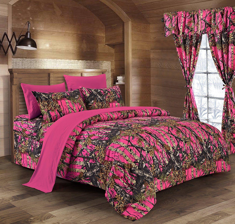 Teen Girls Pink Dusty Rose Bedding Sets Zebra Furniture Comforters Camo