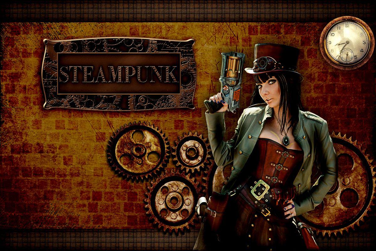Steampunk girl wallpaper wallpapers steampunk girl for Steampunk wallpaper home