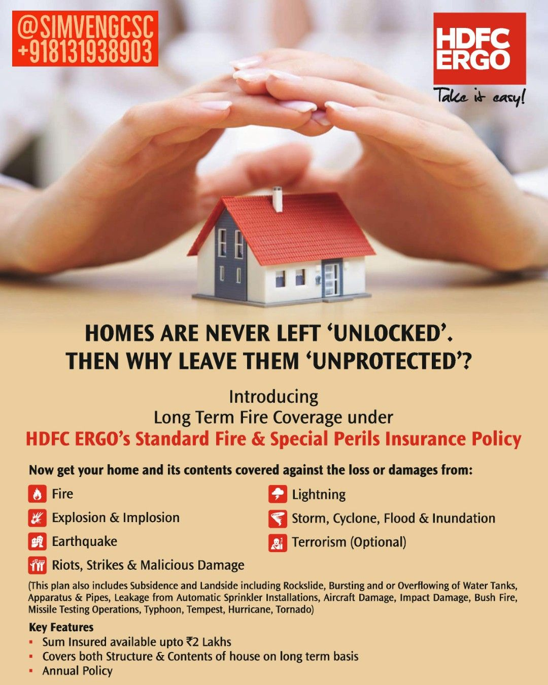 Insure Your Home And Its Contents With Hdfc Ergo S Standard Fire