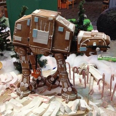 Gingerbread AT-AT!!! Much better than a house.