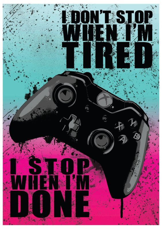 Citaten Weergeven Xbox One : Xbox one quote video game art poster print by extremepandadesign