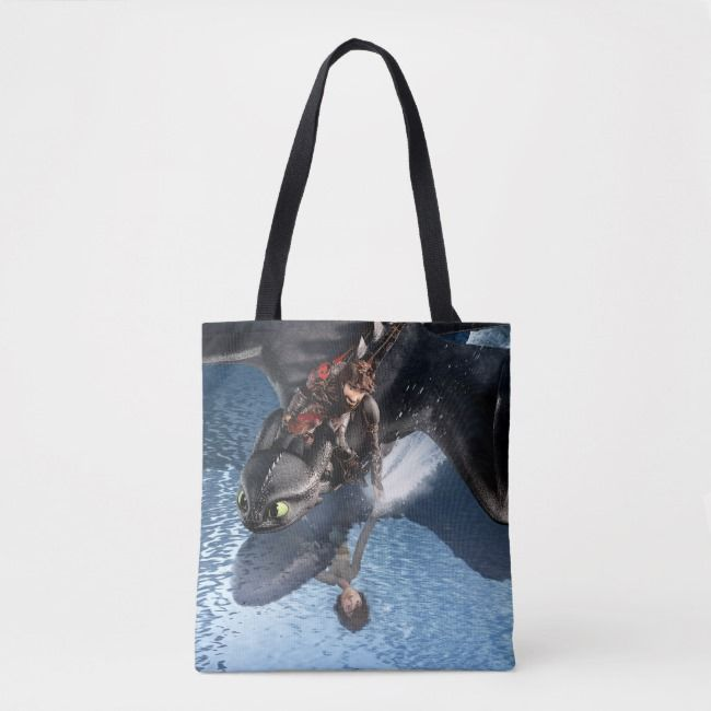 The Hidden World  Hiccup  Toothless Reflections Tote Bag