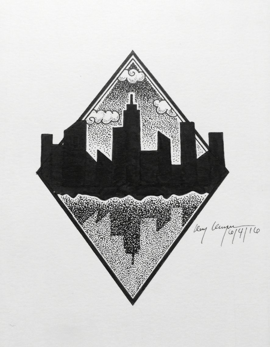 City Skyline Drawing Great Idea Tshirt Ideas Arte