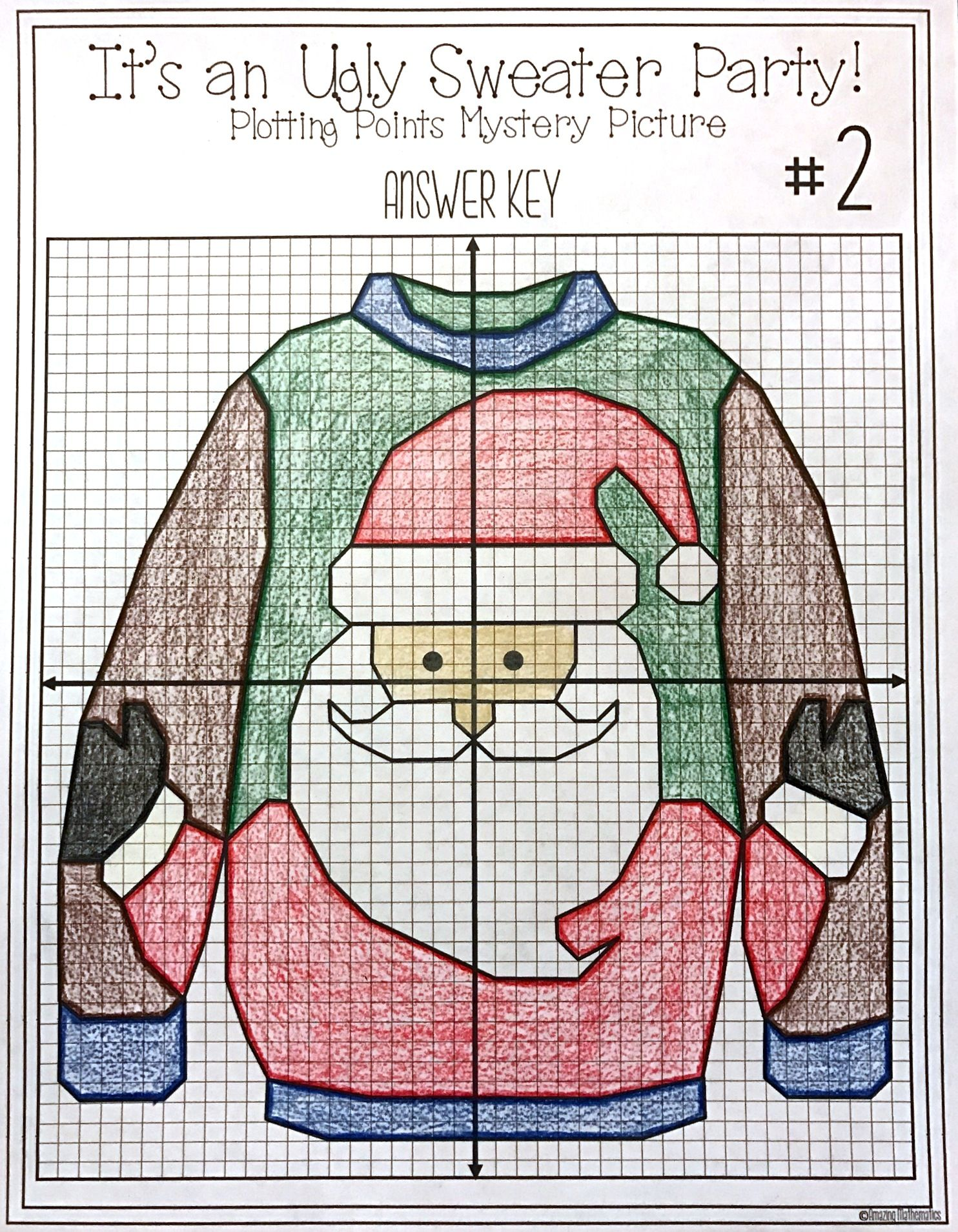 christmas math activity ugly sweaters plotting points mystery picture school christmas. Black Bedroom Furniture Sets. Home Design Ideas