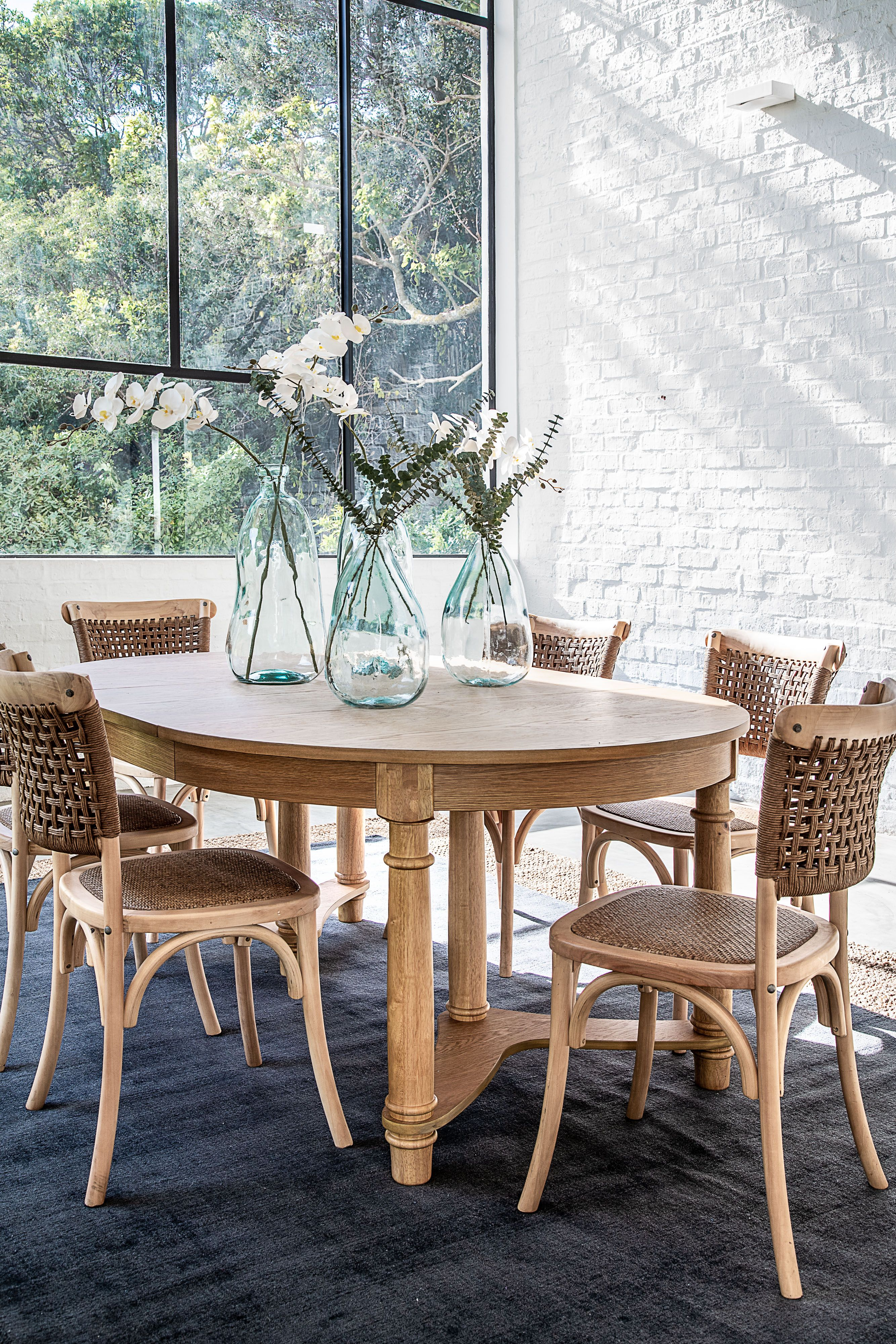 The Ida Dining Table Is A Beautiful Round Table That Can Seat Up
