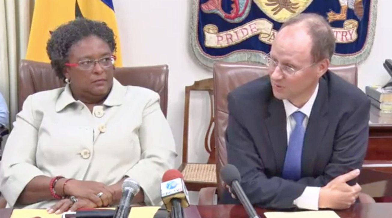 The Barbados government and the IMF announced a staff