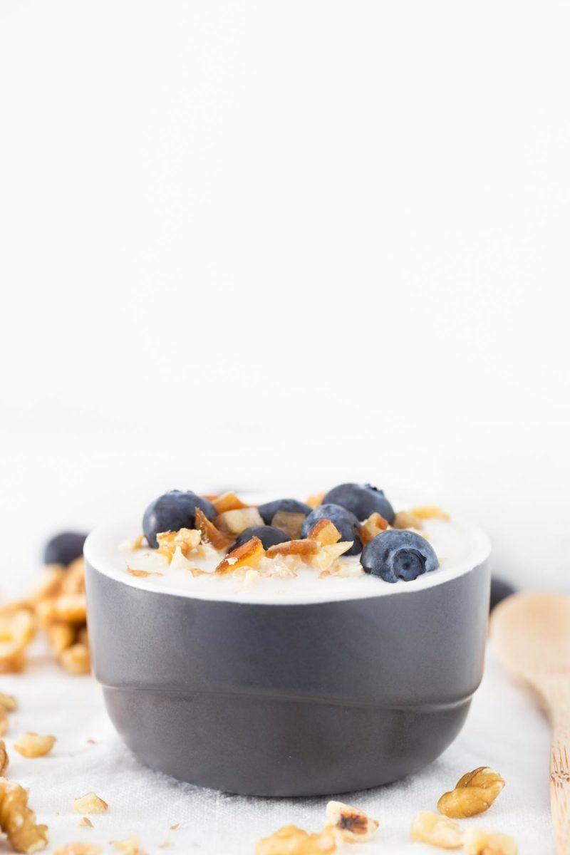 2-Ingredient Vegan Coconut Yogurt.-  It's a super quick and easy recipe.