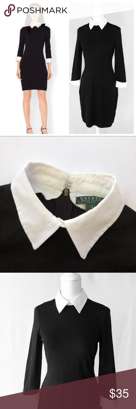 Black Collared Dress Black Dress White Collar White Collar Dress [ 1334 x 1000 Pixel ]