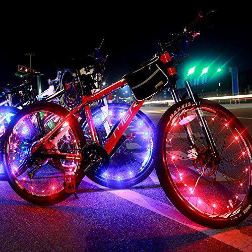 Daway A01 Waterproof Bike Wheel Lights 20 Led Colorful Lightweight