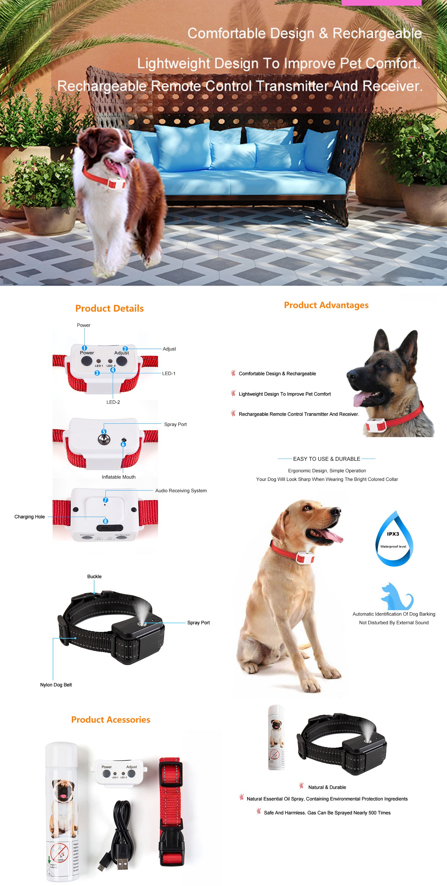 The Spray Collar Is Made Of Safety Materials To Ensure Safety When