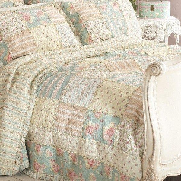 Duck Egg & Lemon Patchwork Bedspread | Crafts | Pinterest ... : yellow quilted bedspread - Adamdwight.com