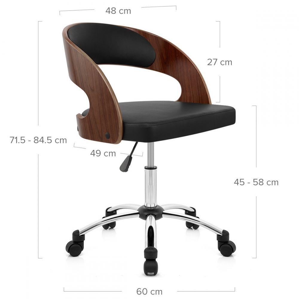Silla Oficina Madera Cromo Evergreen Adjustable Office Chair Modern Desk Chair Brown Leather Office Chair