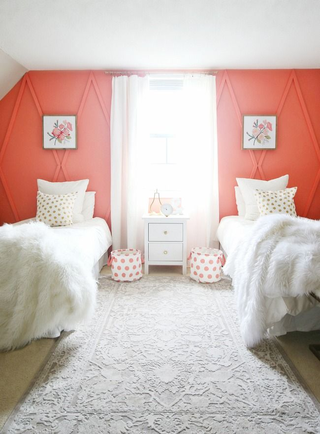 before and after coral bedroom the creative circle coral bedroom rh pinterest com Coral Accent Bedroom Decorating Ideas Island Theme Bedroom Decorating Ideas