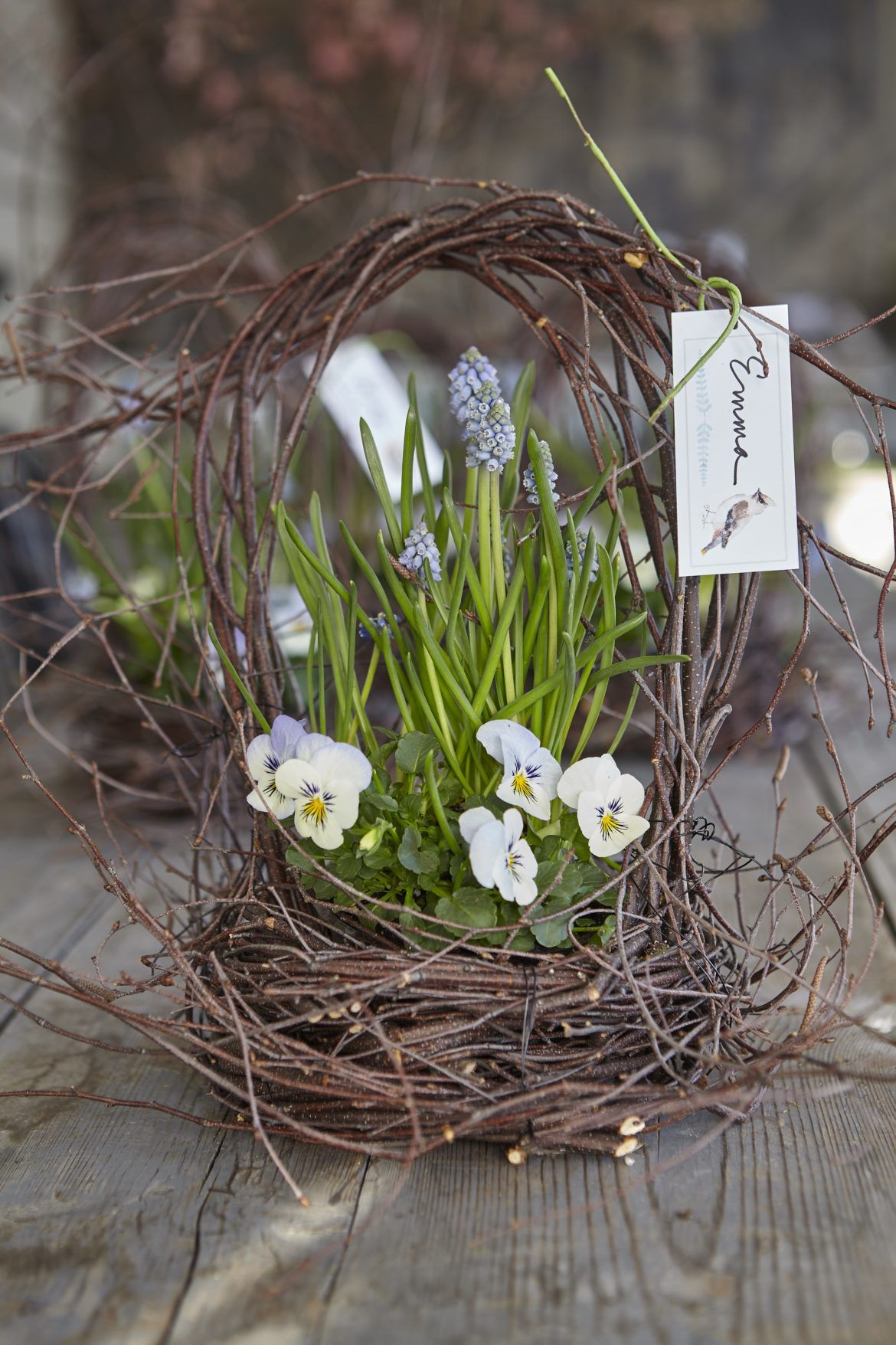 Nature S Easter Baskets Nora Murphy Country House Spring Basket Diy Easter Decorations Spring Baskets