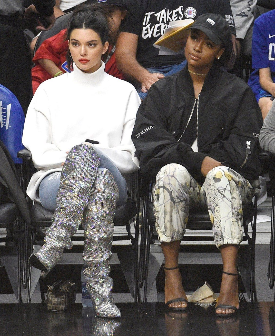 3a56d72d9 Shop the Designer Boots Celebrities Love - Kendall Jenner s sparkly YSL  boots Kendall Jenner Outfits