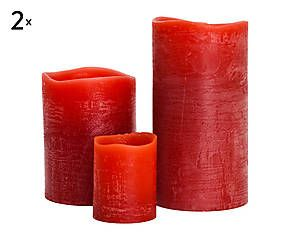 Set di 6 candele elettriche profumate Melograno - d 8 h 15 cm
