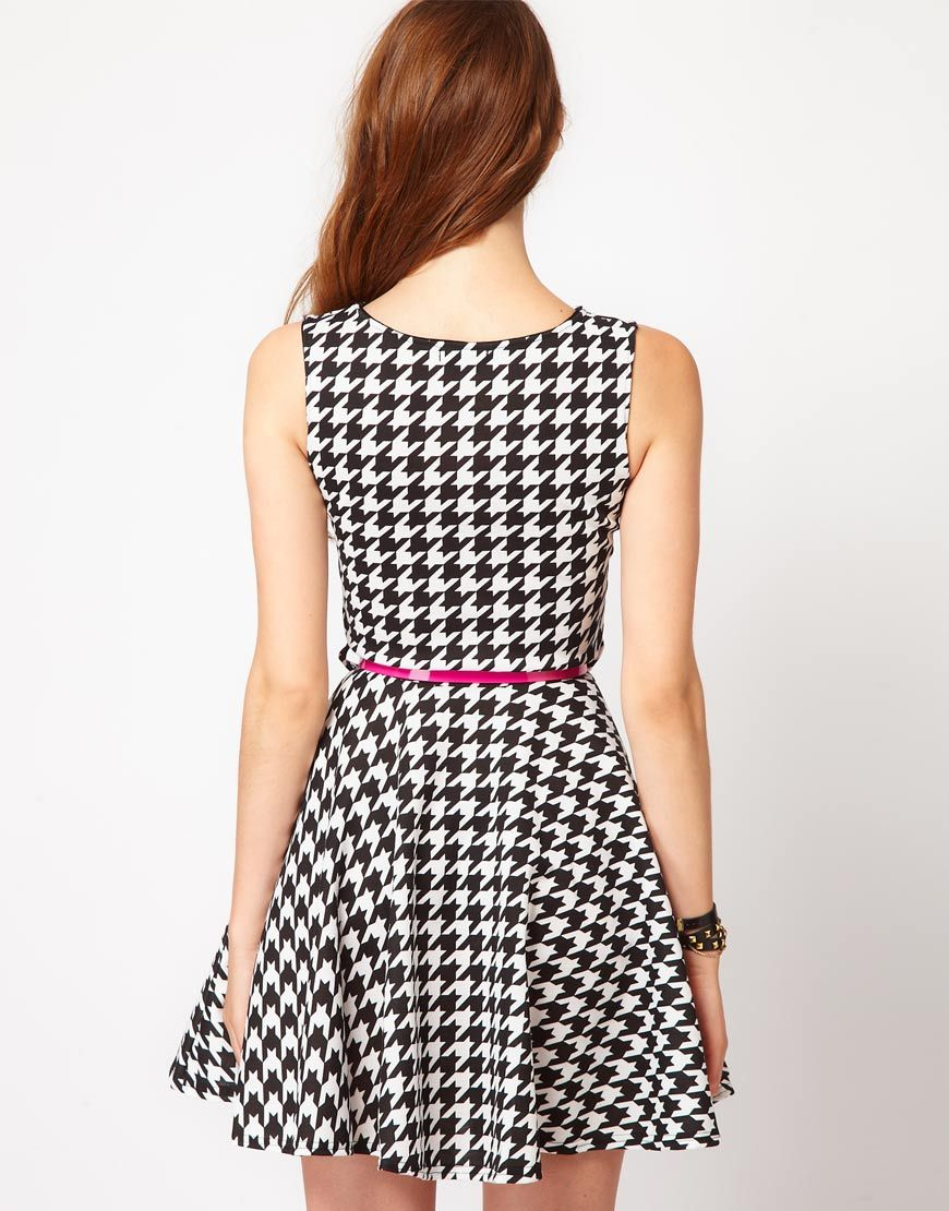 Club L Houndstooth Fit And Flare Dress | Sense | Pinterest ...
