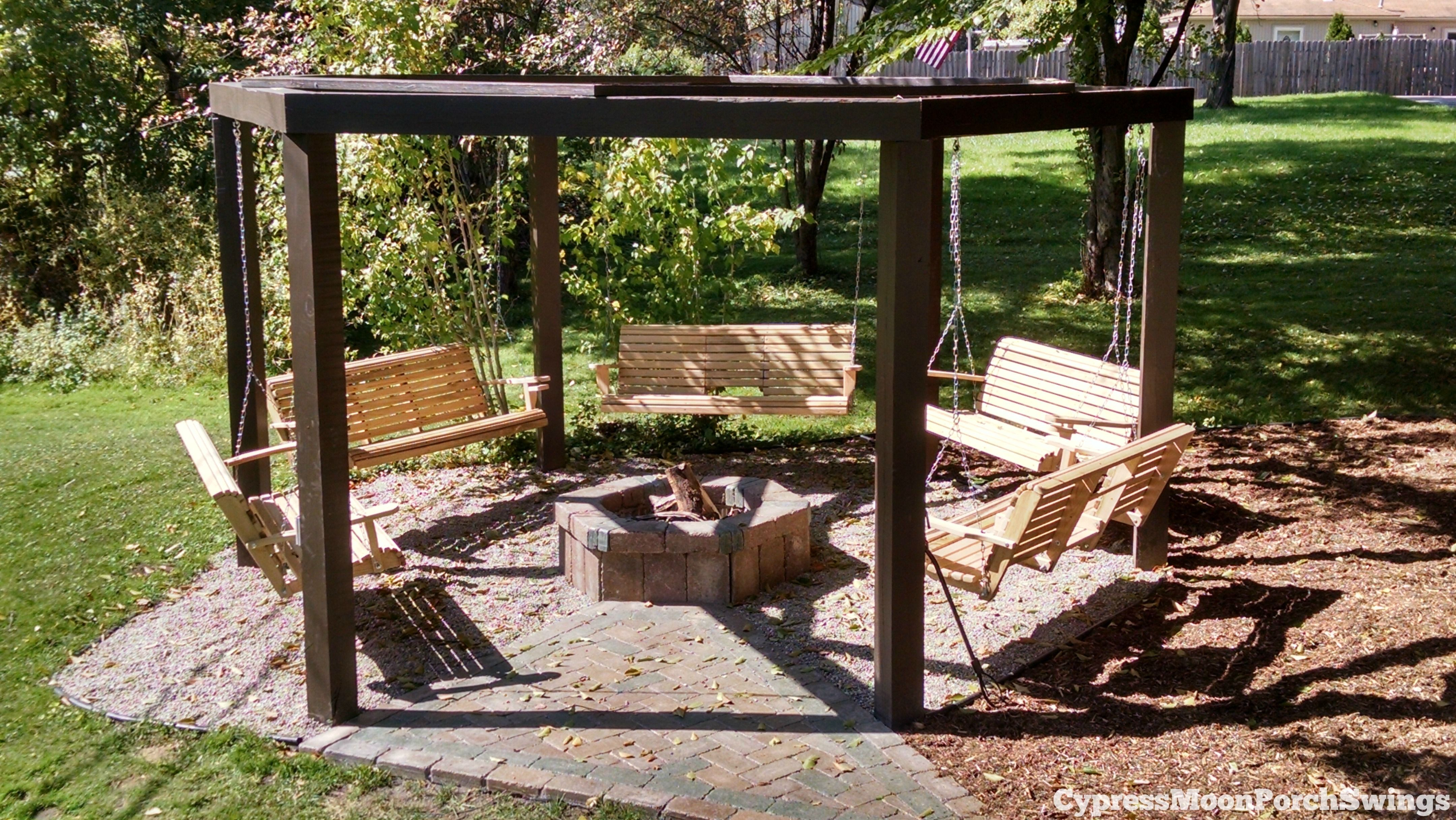 The circle of swings this awesome backyard structure - Backyard swing plans photos ...