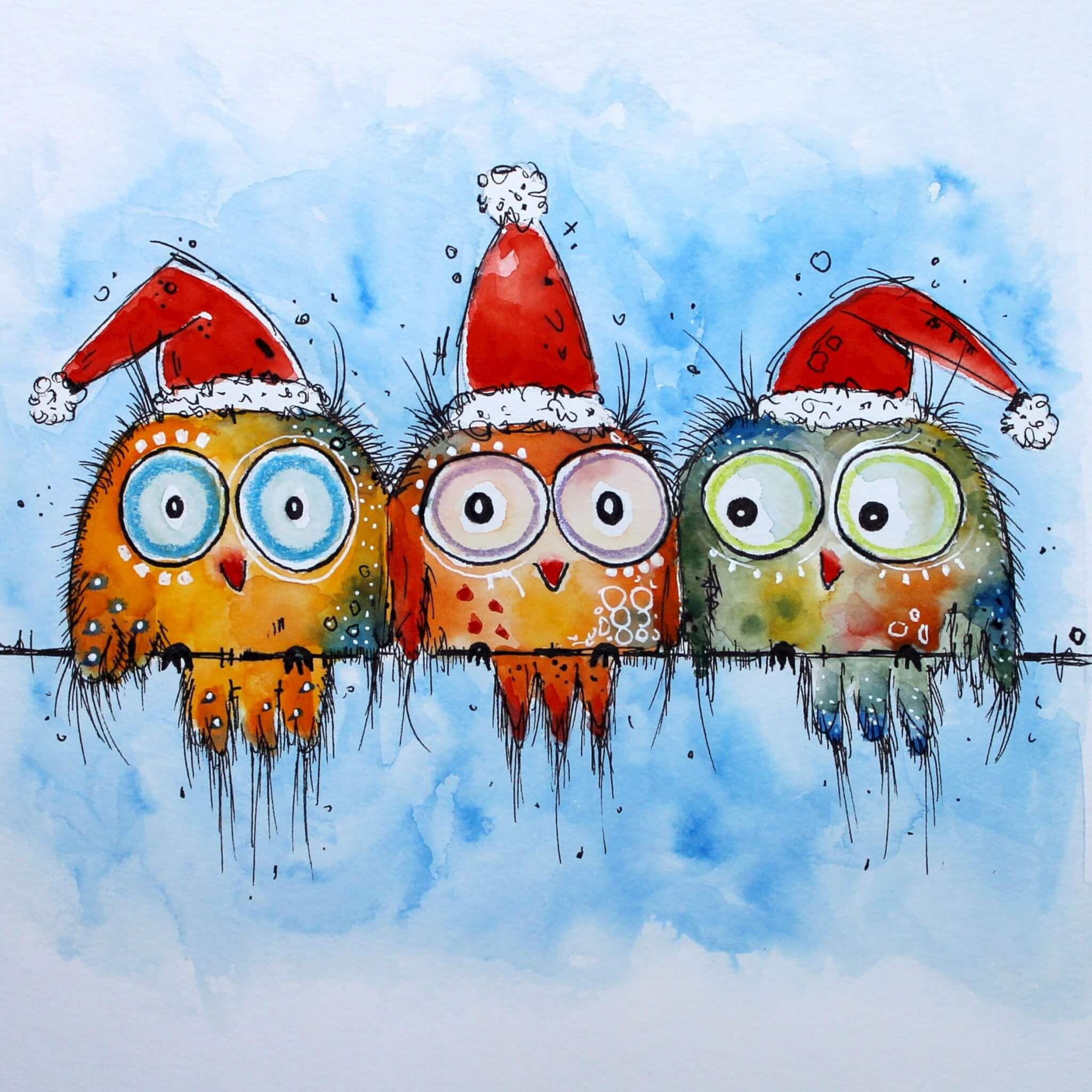 Weihnachtsmotive Weihnachten Zeichnen Aquarell Weihnachten