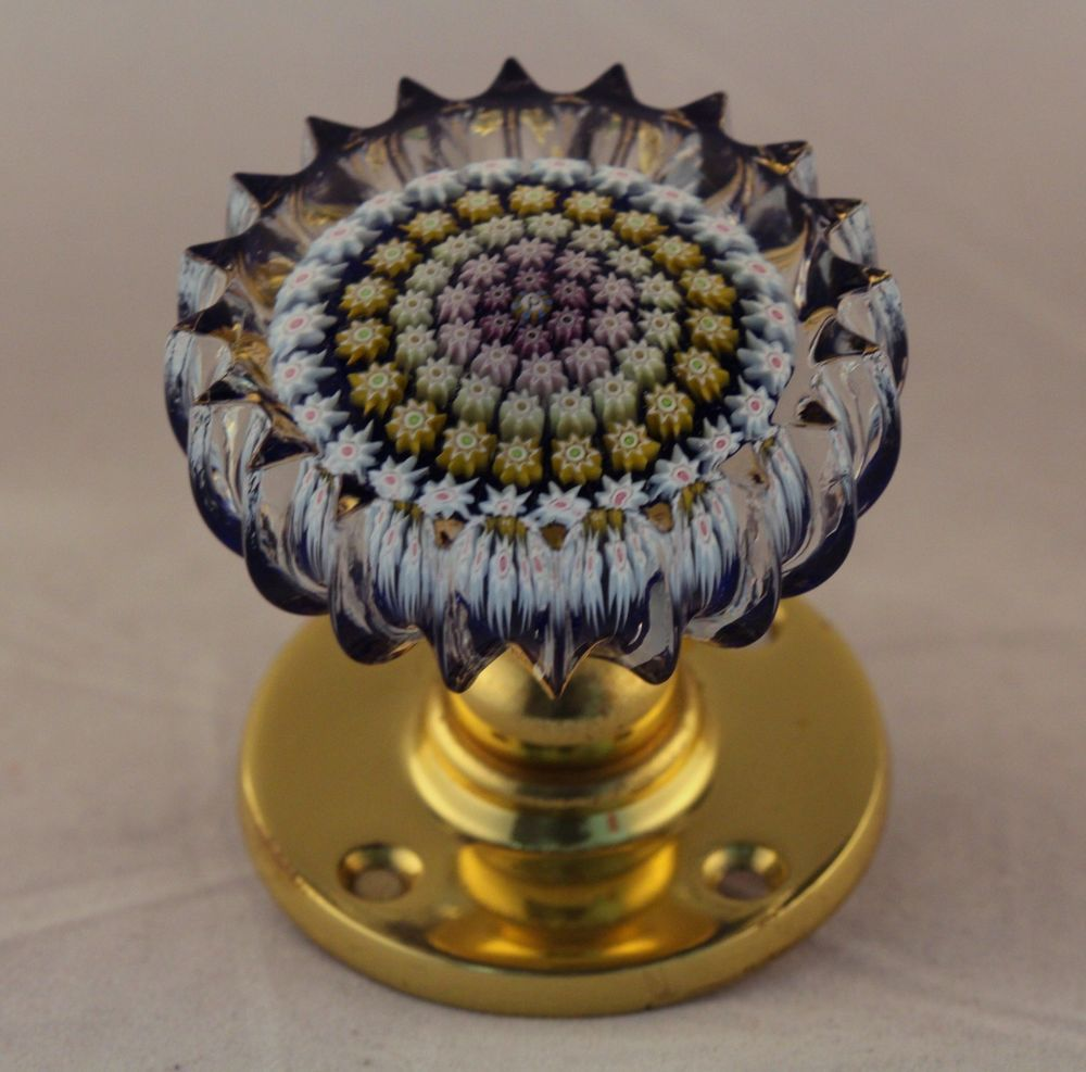 Gorgeous PERTHSHIRE Millefiori PAPERWEIGHT DOOR KNOB Art Glass ...
