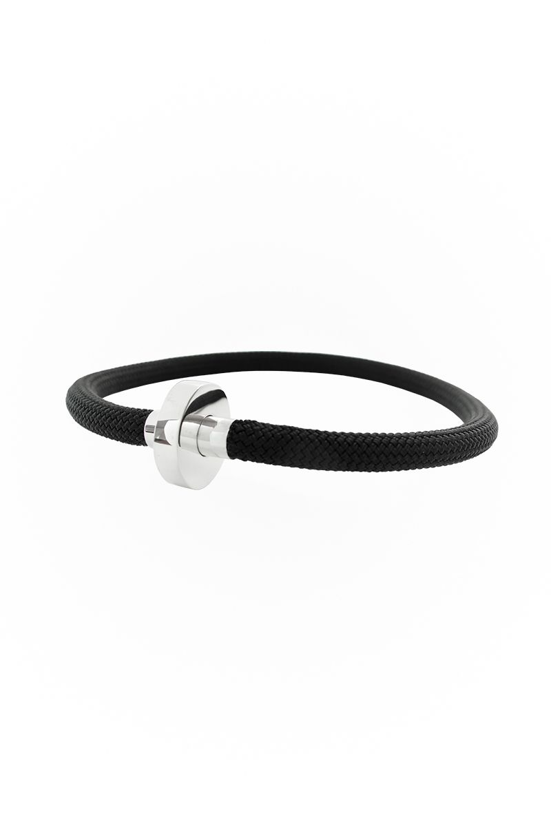 GHINA choker | sterling silver and cord | EMPATIA CERO collection | JACOBO TOLEDO