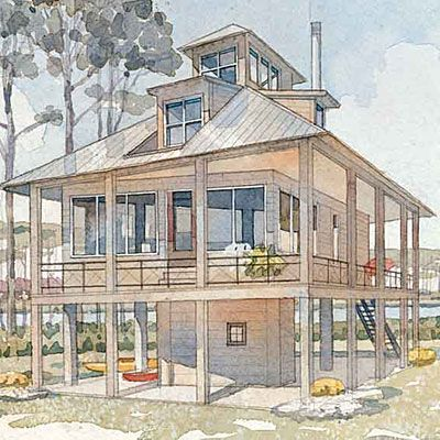 Top 25 Coastal House Plans Coastal House Plans Beach House Plans House On Stilts