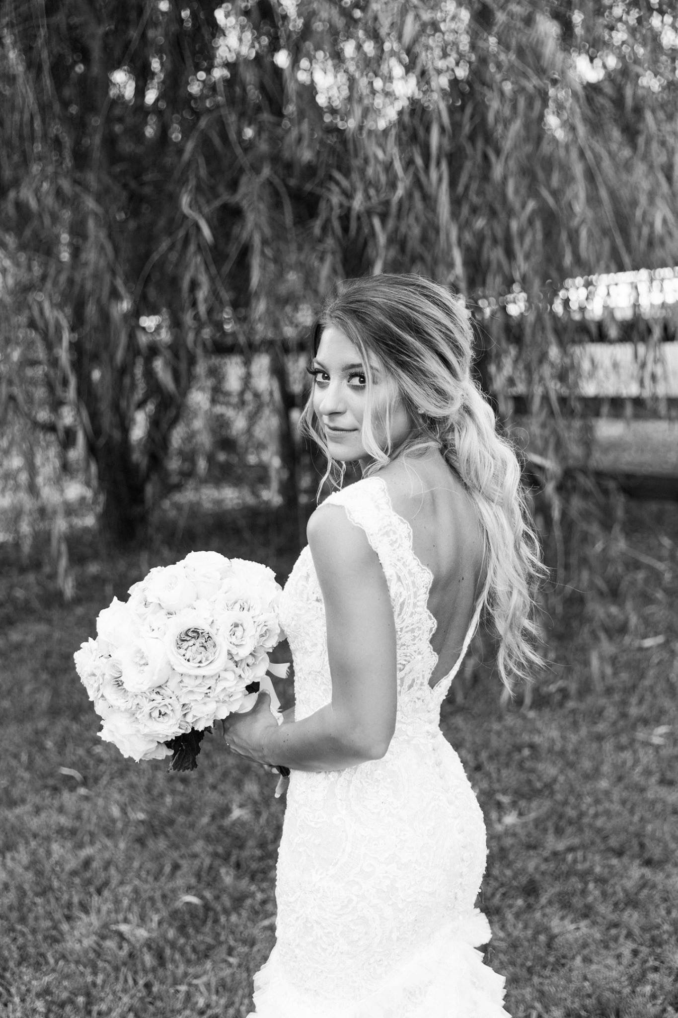 Bridal ponytail hairstylelacewedding lace weddings
