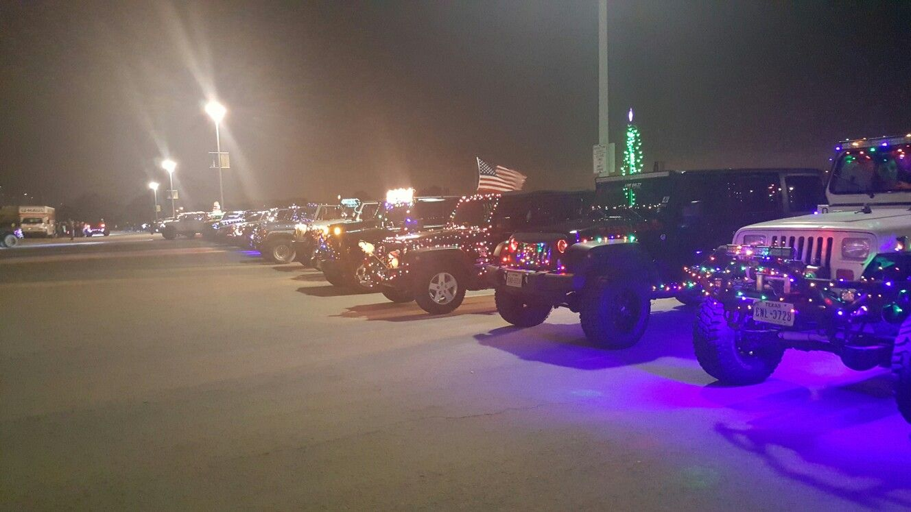 At north texas jeep club annual lights parade 2016 jeep