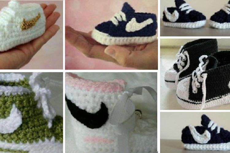 Un Patron Gratuit Pour Crocheter Des Pantoufles Style Nike Pour Bébé