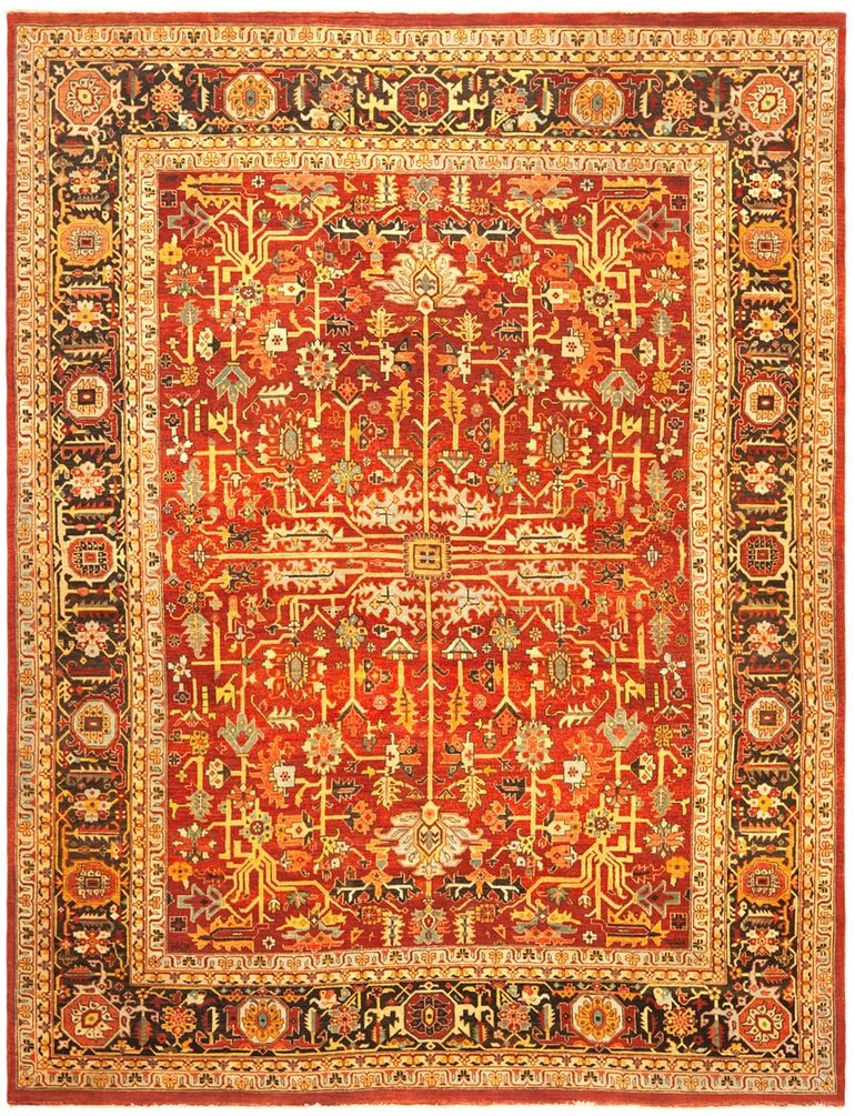 Wexford  Patterned, Traditional, Turkish Oushak, Ethnic, Cotton  Cotton Blend, Wool, Rug by Ralph Lauren Home