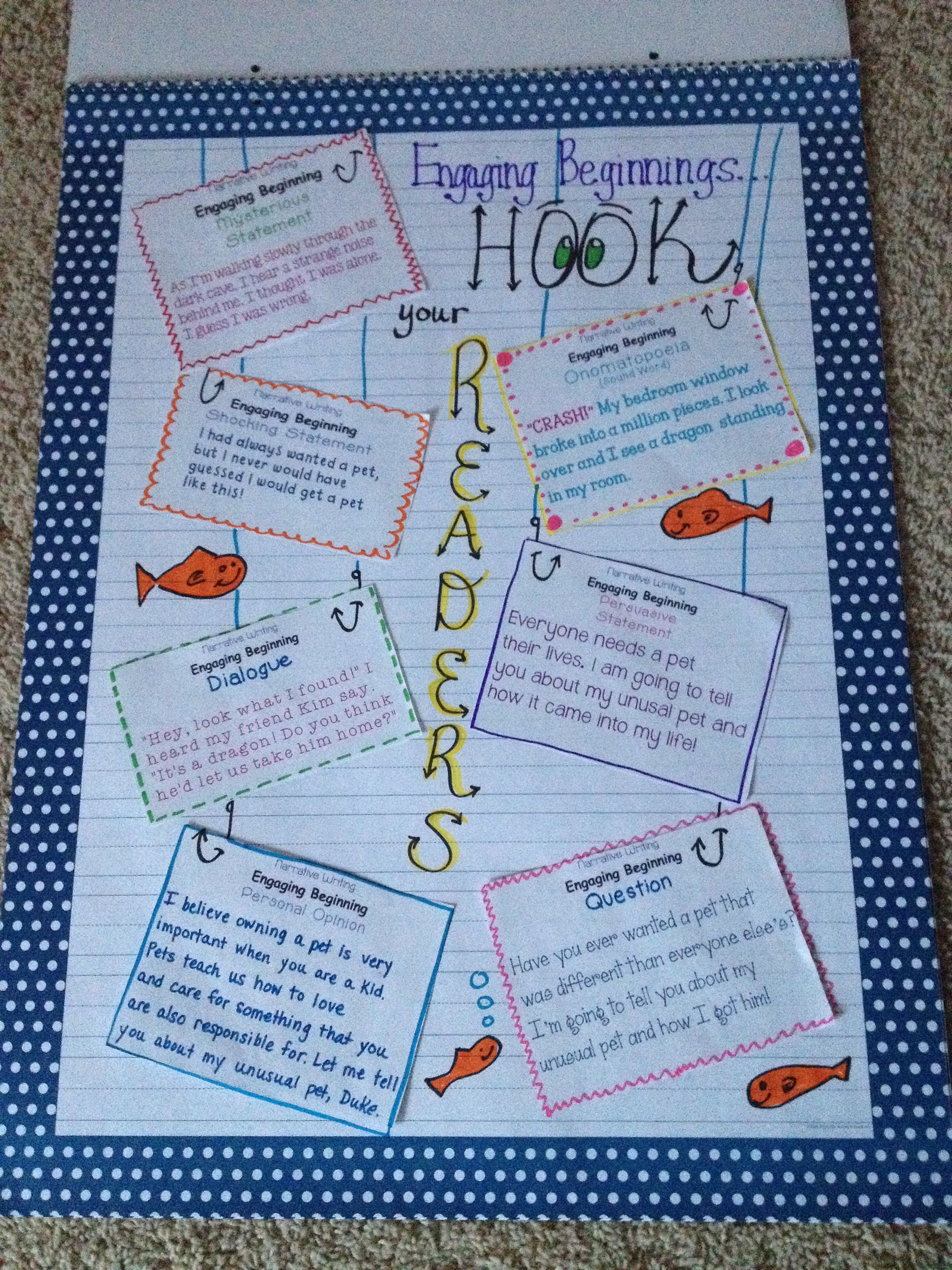 Engaging Beginnings For Narrative Writing Hook Your