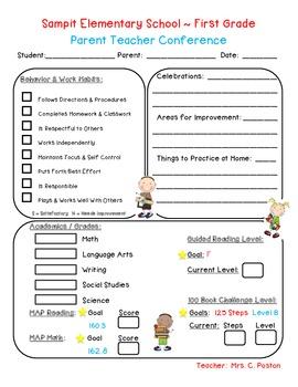 parent teacher conference templates koni polycode co