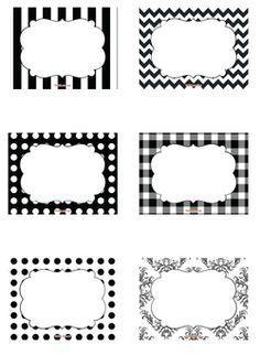 free black white free printable candy buffet labels to add to your candy jars