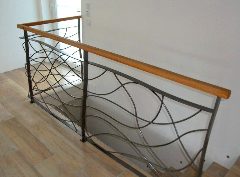 Garde corps int reur galerie avant pinterest rampes for Rambarde escalier design
