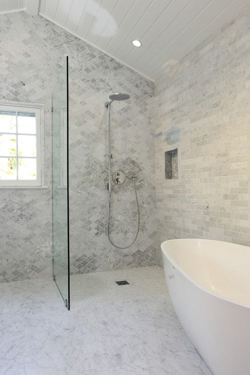 A Larger Curbless Shower Visually Enlarges The Bathroom