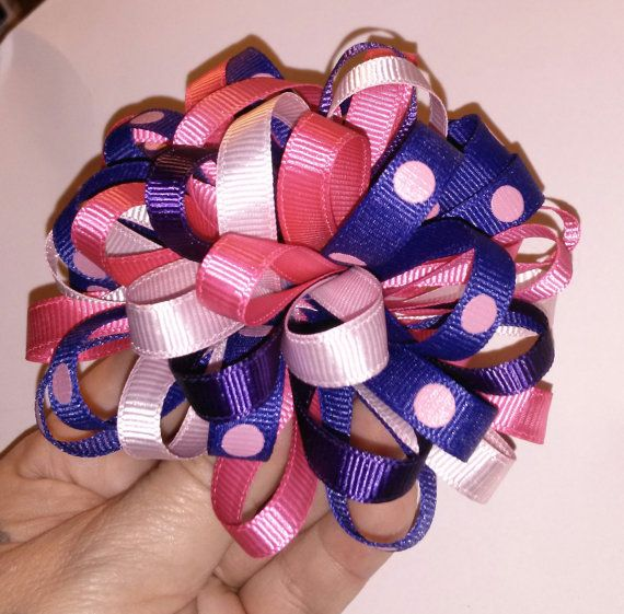 Handmade Loopy Bow Hair Clip by ThisNThatCraftsByJo on Etsy