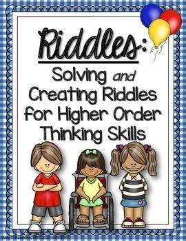 Riddles are a great way to teach children higher order thinking skills. Besides being fun for kids, riddles teach categories, answering questions, attributes (creating and associating), features, functions, vocabulary, inferential thought-the list goes o