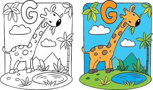 gambar mewarnai hewan dan contoh warnanya gambar