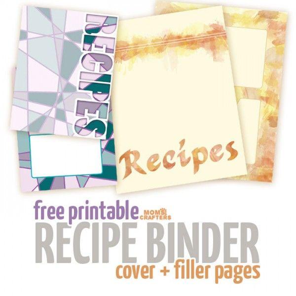Free Recipe Binder Printables