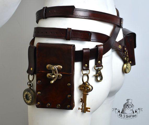 Ultimate Steampunk Bags And Belts Kit Steampunk Steampunk Belt